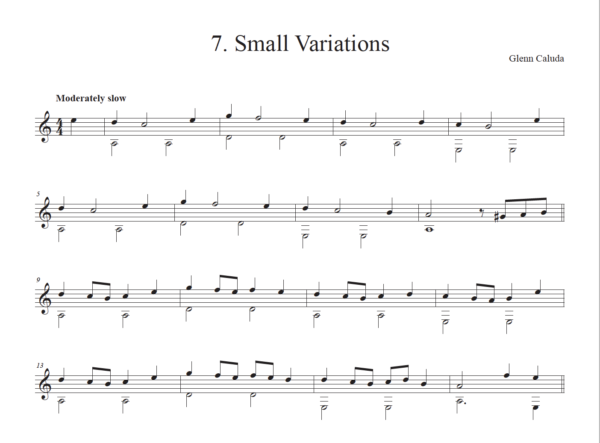 Score of Small Variations