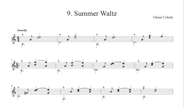 Score of Summer Waltz