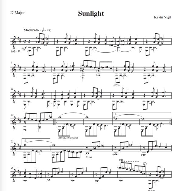 Score of Sunlight