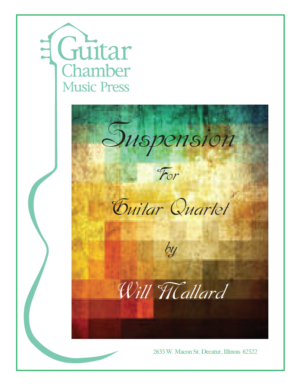 Cover of Suspension for Guitar Quartet
