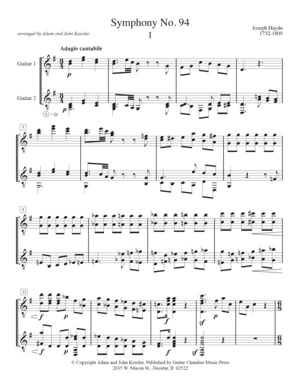 Score of Symphony No. 94 I