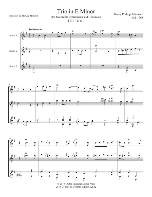 Score of Trio in E Minor