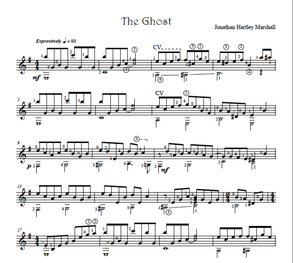 Score of The Ghost