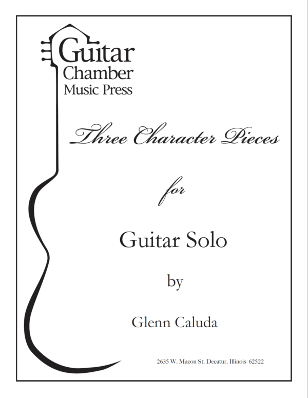 Cover of Three Character Pieces Score