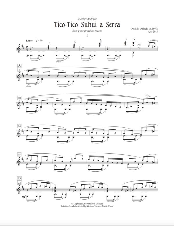 Score of Tico-Tico Subui a Serra