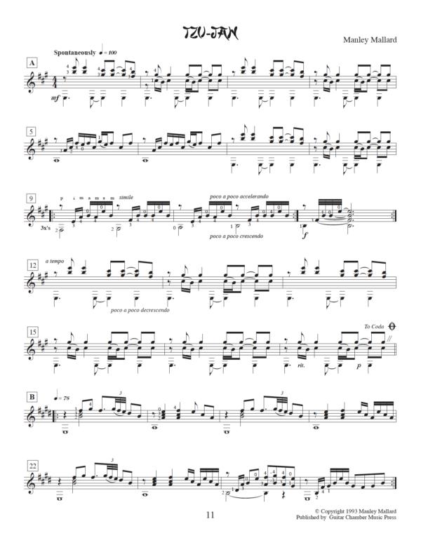 Score of Tzu Jan