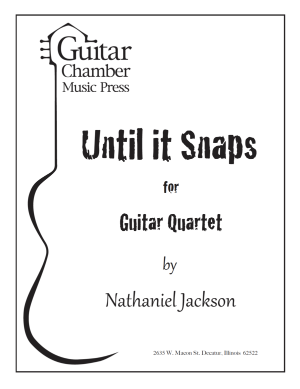 Cover of Until It Snaps Score