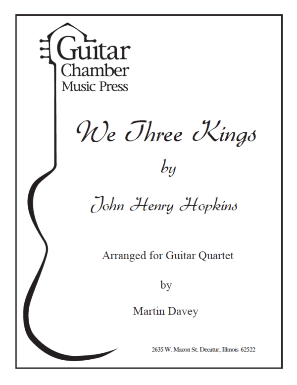 Cover of We Three Kings Score