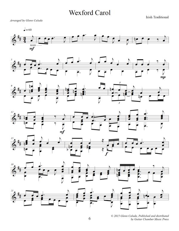 Score of Wexford Carol