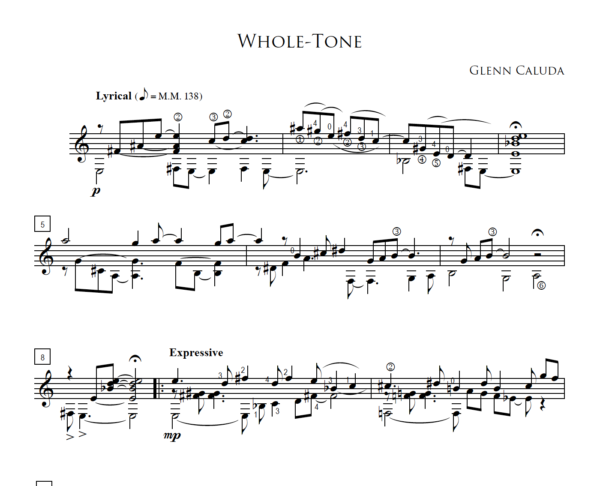 Score of Whole Tone