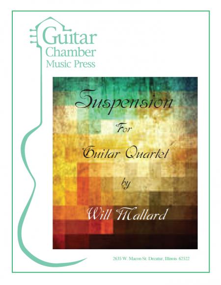 Cover of Suspension for Guitar Quartet